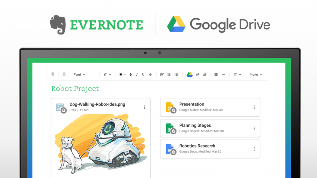 Evernote adds Drive integration for easier file access