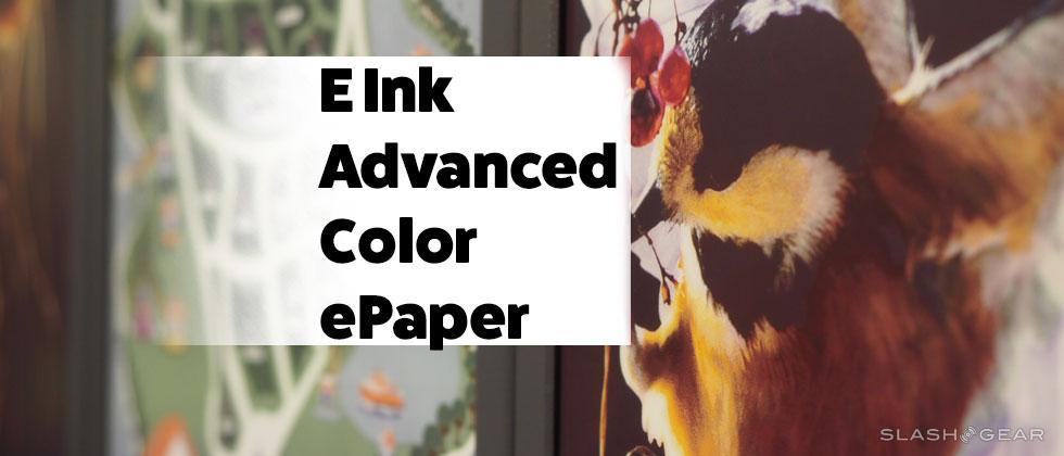 E Ink's Color ePaper up close