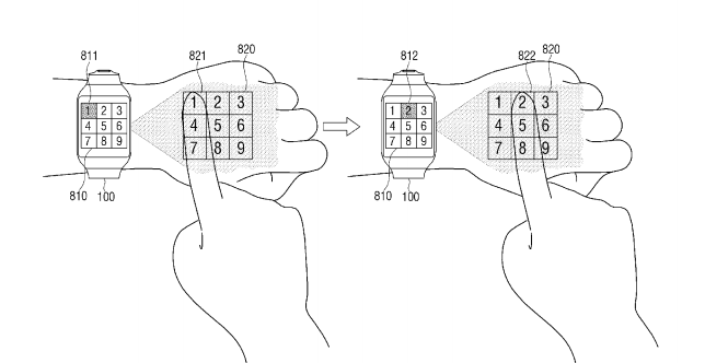 Samsung smartwatch concept uses your hand as a projection surface