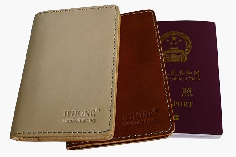"""IPHONE"" leather passport case"