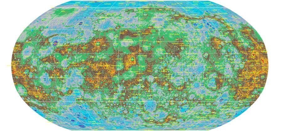 USGS releases first ever global topographical map of Mercury