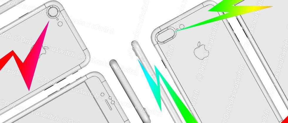 iPhone 7 Plus images appear showing cameras, sizes, connectors