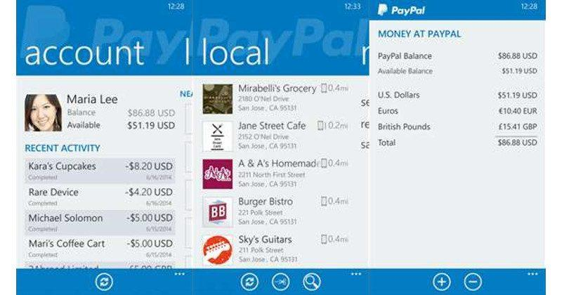 PayPal retires Windows Phone, BlackBerry, and Amazon apps