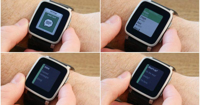 Pebble update also adds Send Text for iOS