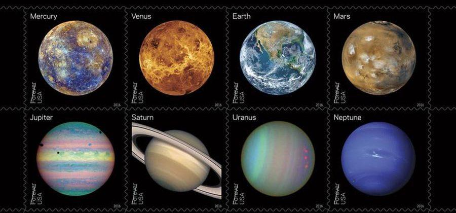 NASA unveils new planet-themed stamps for the USPS