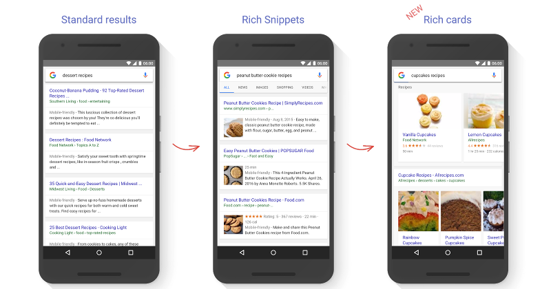 Google Search Rich Cards make results stand out even more