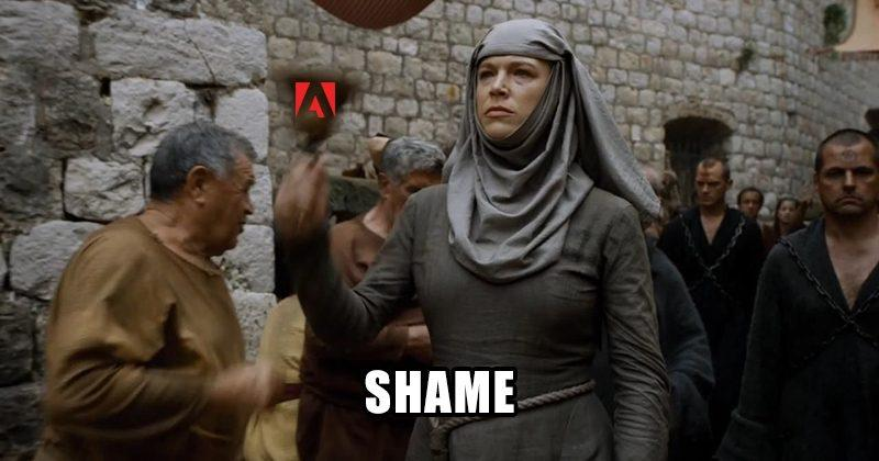 Adobe uses shame to tackle software piracy