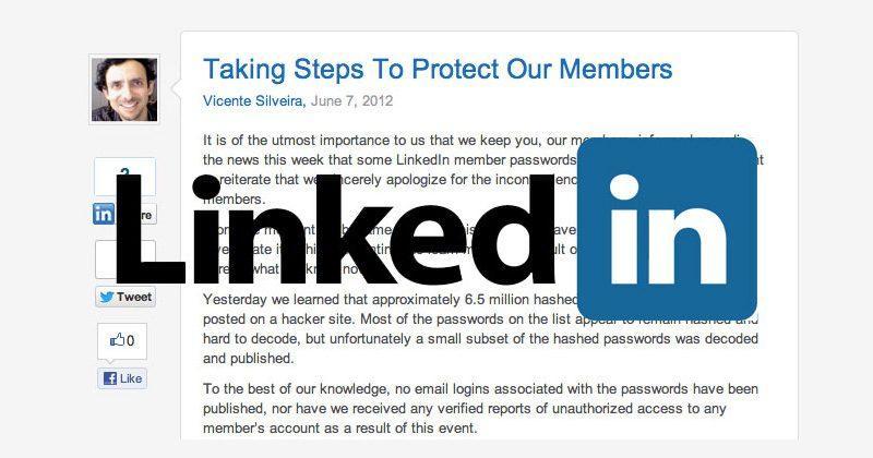 2012 Linkedin hack is back to haunt 117 million users