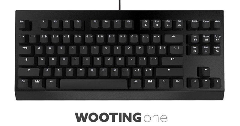 Wooting One analog keyboard hits Kickstarter