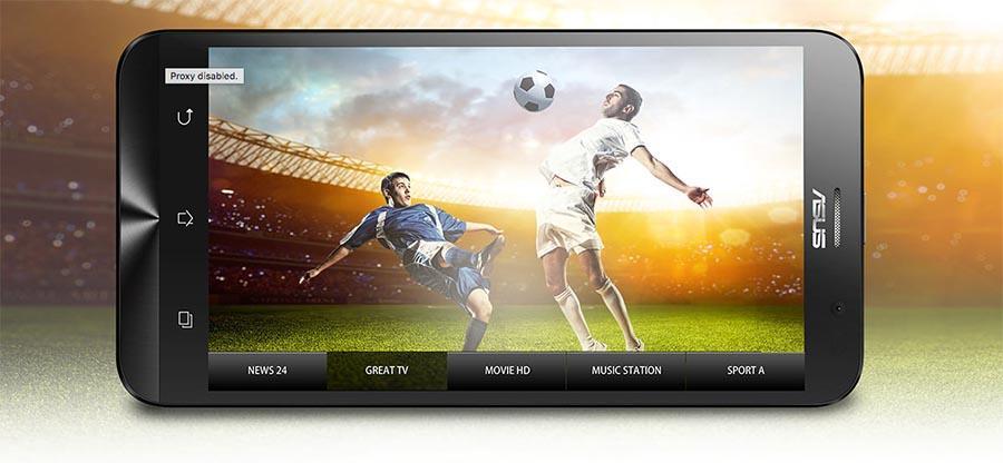 ASUS ZenFone Go TV has a built-in digital TV tuner