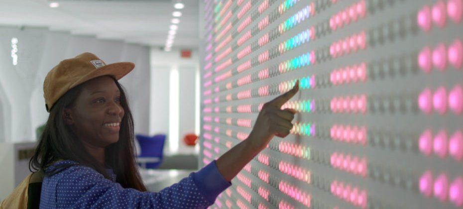 Google installation features 6,000 light-up buttons powered by open-source software