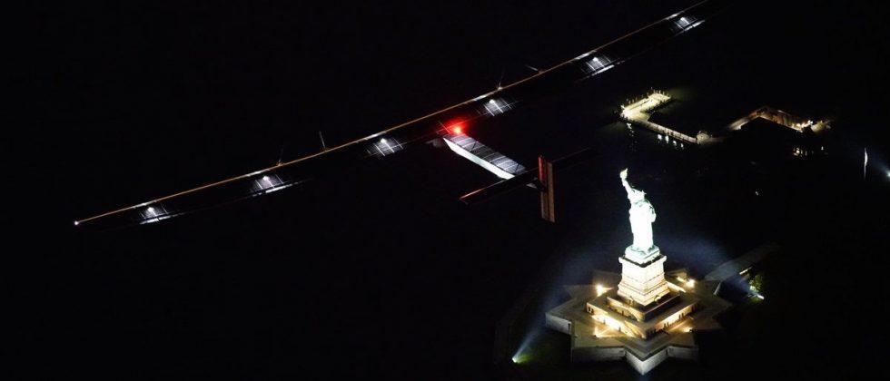 Solar Impulse plane lands in New York, completing US leg of global flight