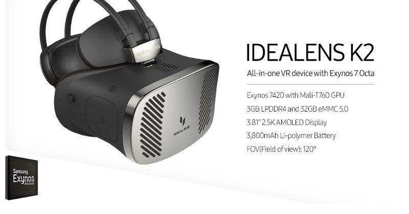 Idealens standalone VR headset powered by Samsung Exynos 7420