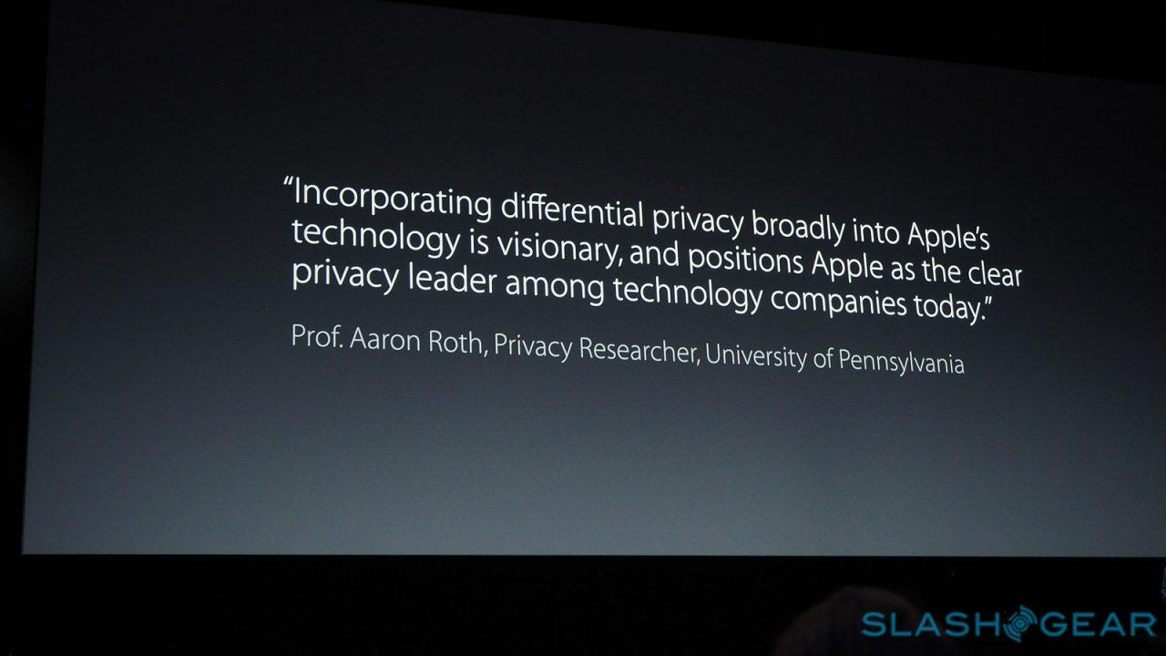 Apple differential privacy