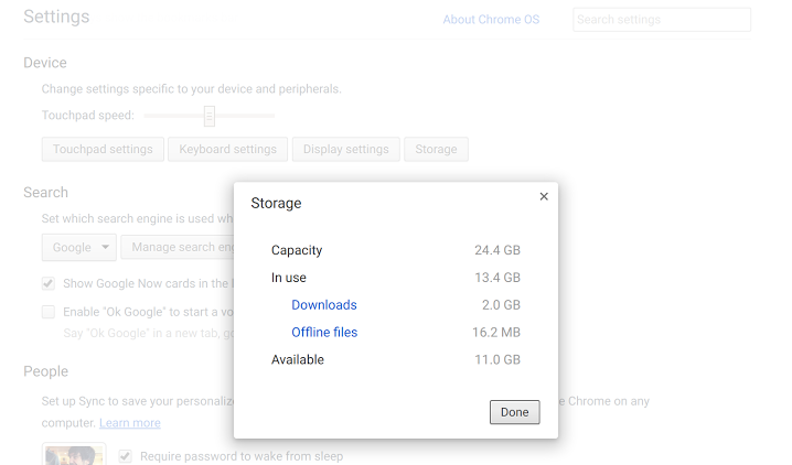 Chrome OS is finally getting a storage manager