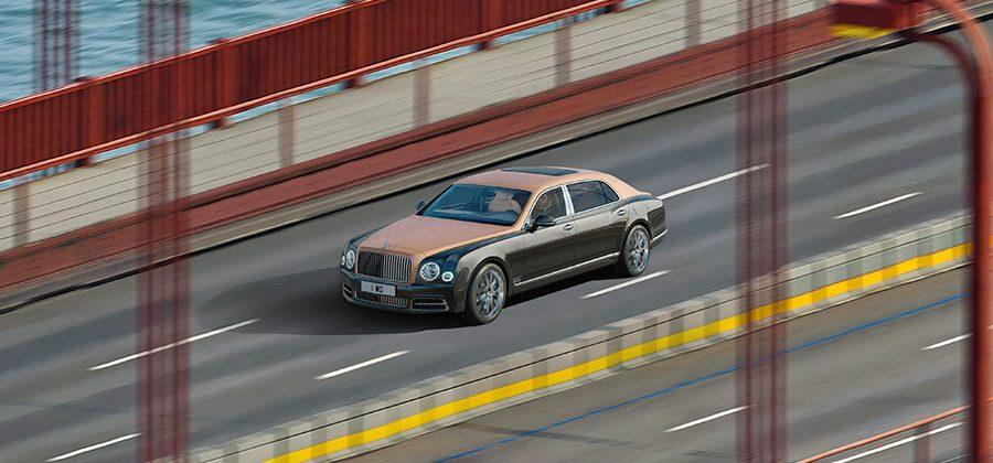 Bentley Gigapixel image shows Mulsanne Extended Wheelbase on Goldengate