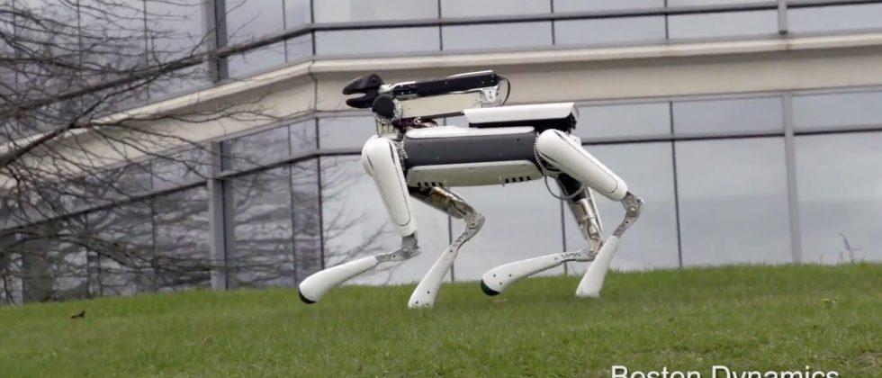 Boston Dynamics' SpotMini is small in size, still high in terror
