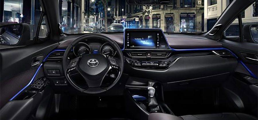 Toyota C-HR interior design debuts in its black and blue glory
