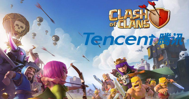 Clash of Clans now owned by Tencent with Supercell acquisition