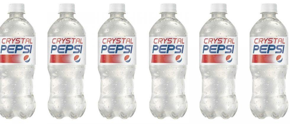 Crystal Pepsi is back for your 90s retro pleasure