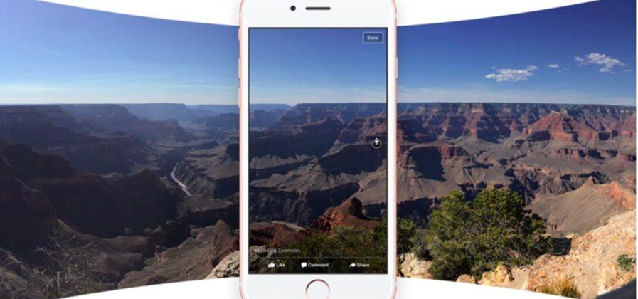 Facebook flips the switch on 360-degree photos