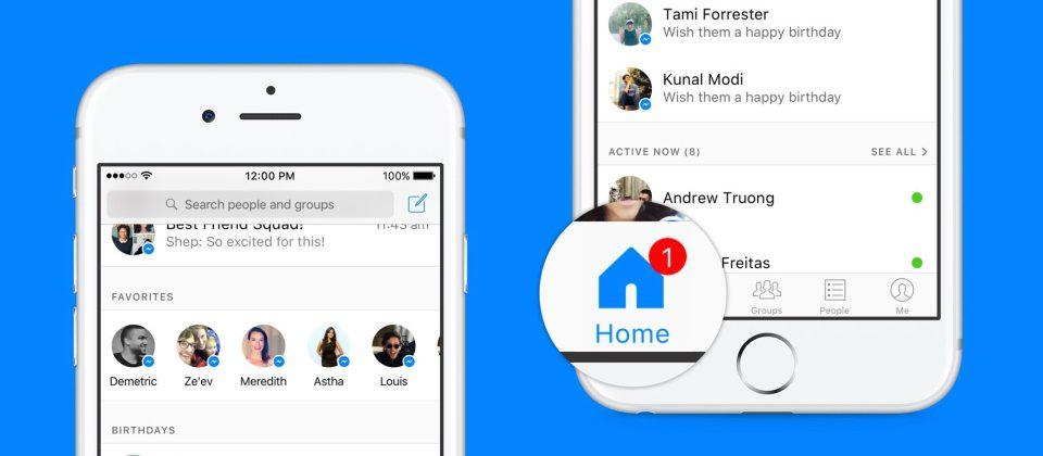 Facebook Messenger rolls out new Home screen, inbox features