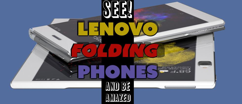 Watch Lenovo's foldable, flexible phones in action