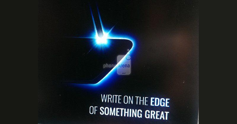 Galaxy Note 7 leaked teaser wants you to write on the edge