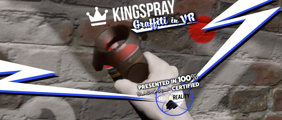 Kingspray Graffiti Simulator in VR is magical (with SG Mixed Reality)