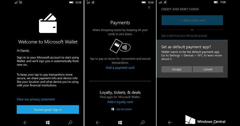 Windows 10 Mobile is getting its own Tap to Pay feature