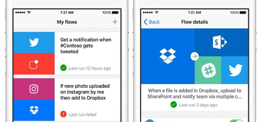 Microsoft Flow lands on iOS - SlashGear