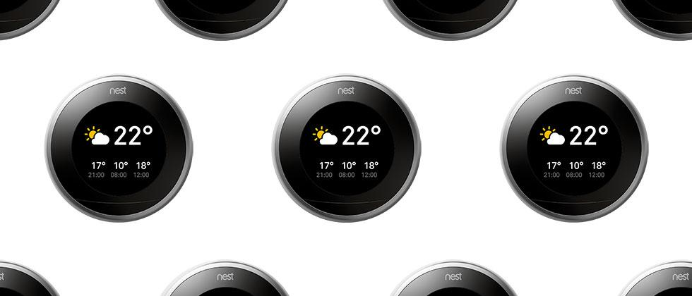 Nest update shows current temp and weather forecast