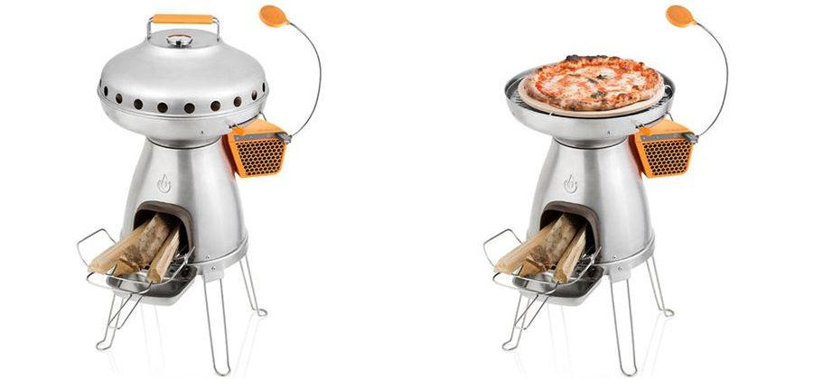 PizzaDome is a wood-fired oven for the BaseCamp stove