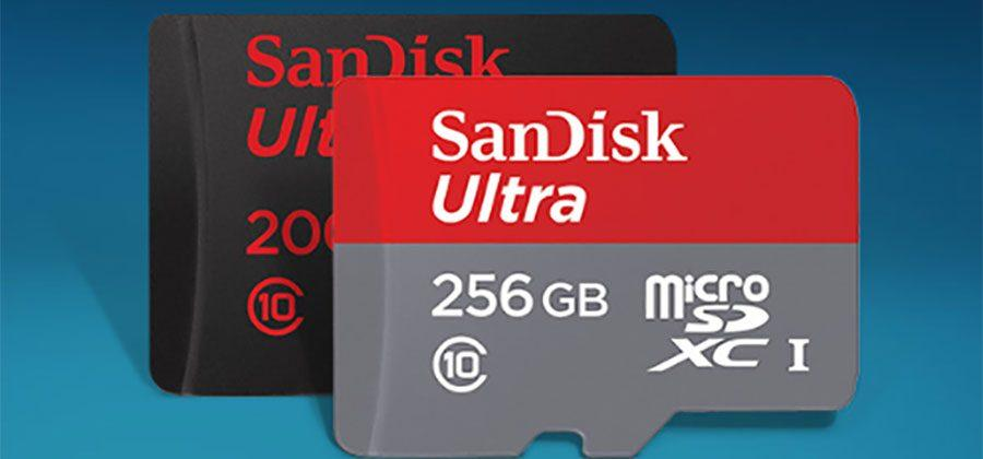 SanDisk 256GB Extreme microSDXC card is optimized for 4K video