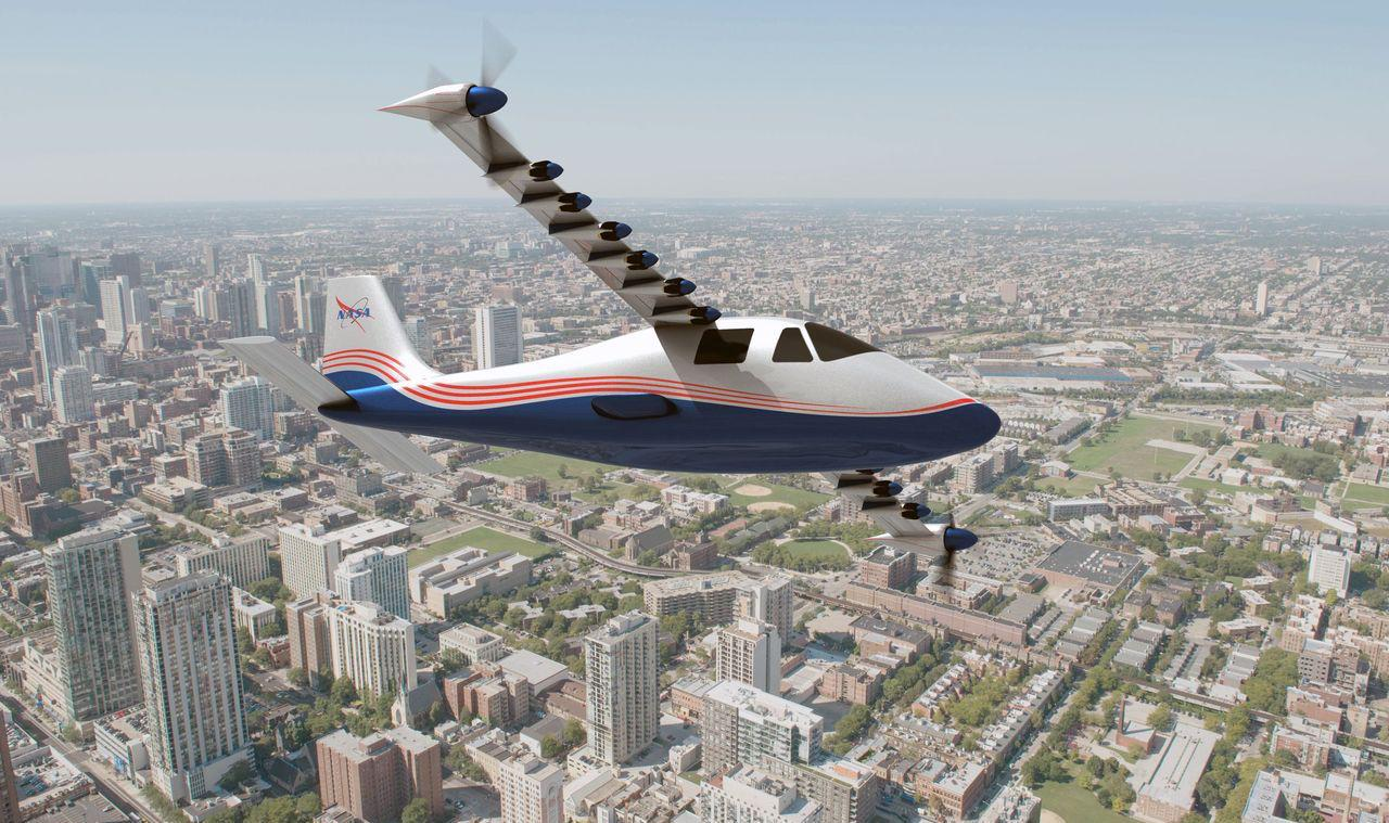 NASA reveals 14-motor electric X-plane prototype