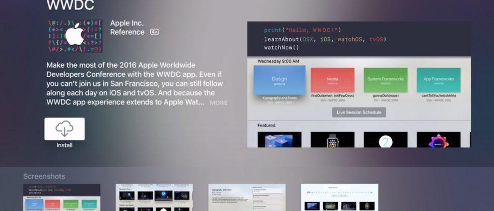 Apple updates WWDC app with new Apple TV version