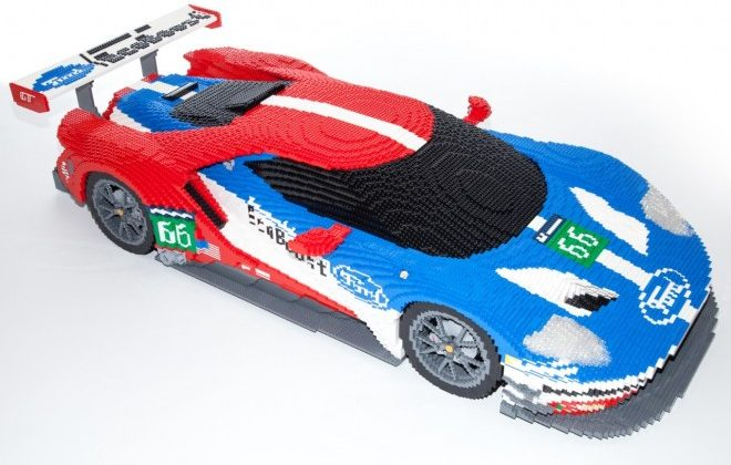 Ford Gt  Scale Lego Model Unveiled For Le Mans