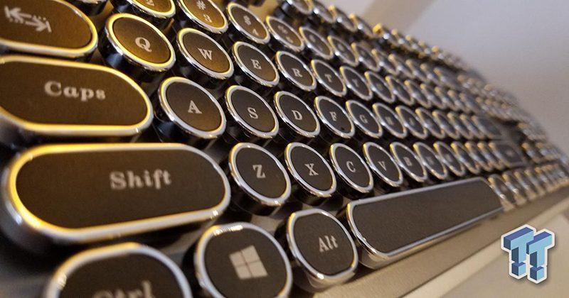 AZIO shows off steampunk typewriter USB keyboard