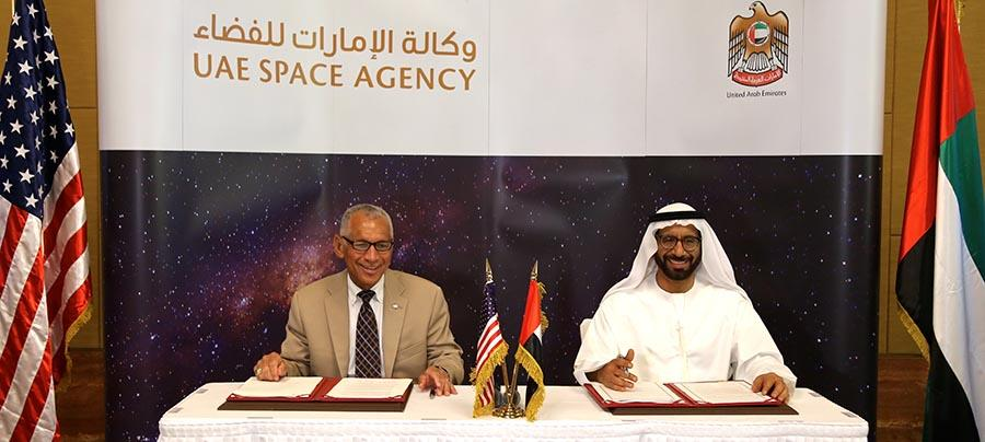 NASA and UAE Space Agency sign peaceful space exploration agreement