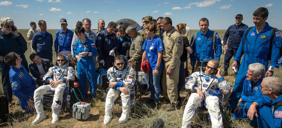 3 ISS astronauts return to Earth after 186 days in space