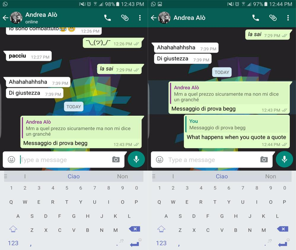 WhatsApp introduces quoted message responses