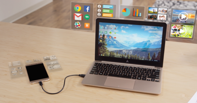 Superbook blasts through Kickstarter to turn phones into laptops