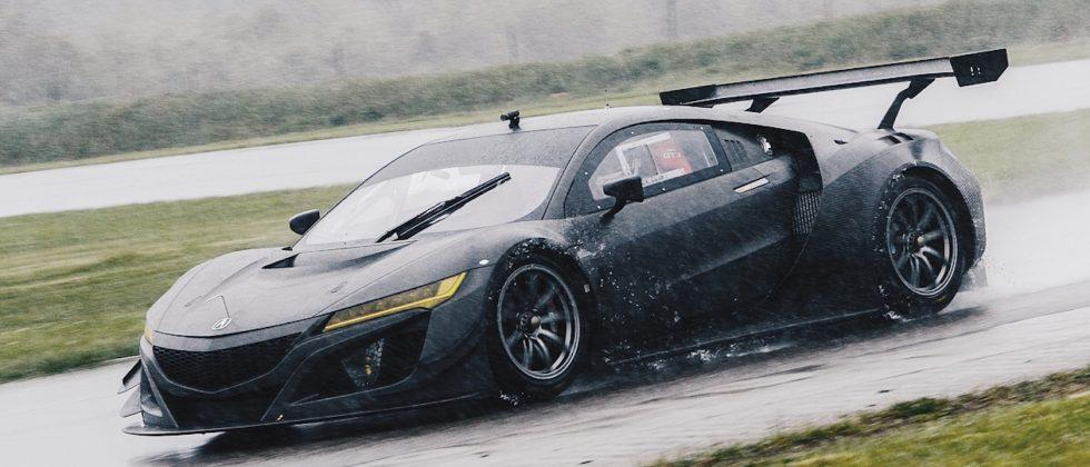 Stunning in bare carbon fiber, Acura's NSX GT3 car gets snapped in testing