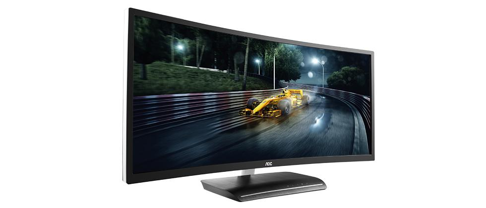AOC's first curved gaming display comes in black