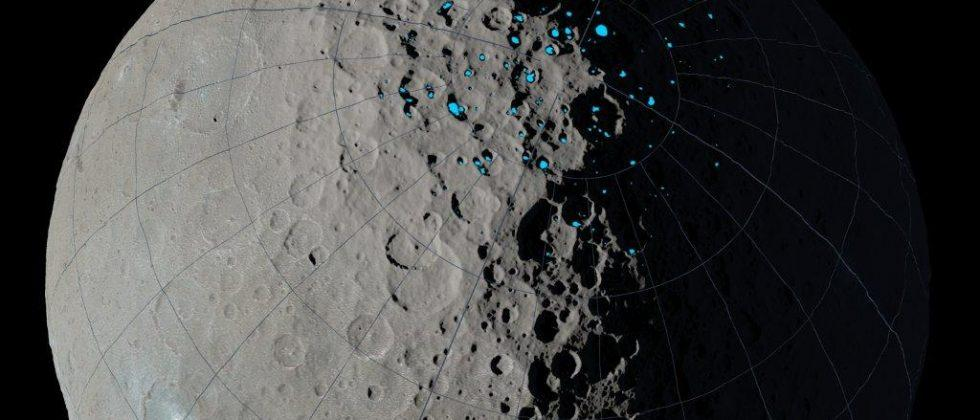 Ceres may hold ice deposits in permanently shadowed regions