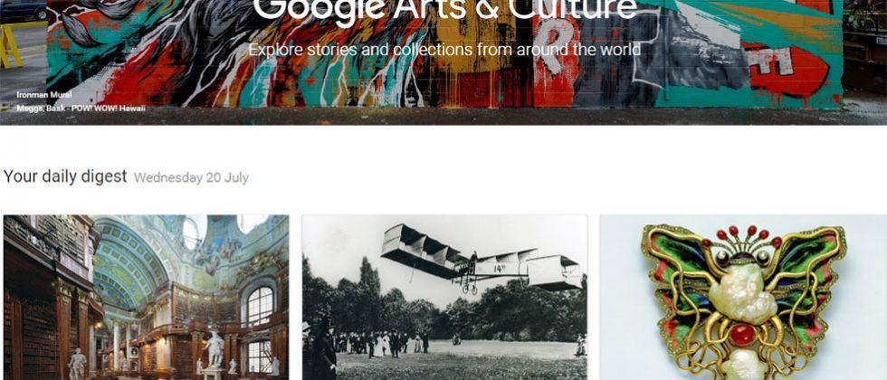 Google Arts & Culture app updated with Cardboard support