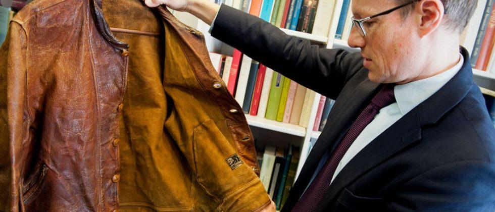 Albert Einstein's 'pungent' leather jacket auctioned for $144k