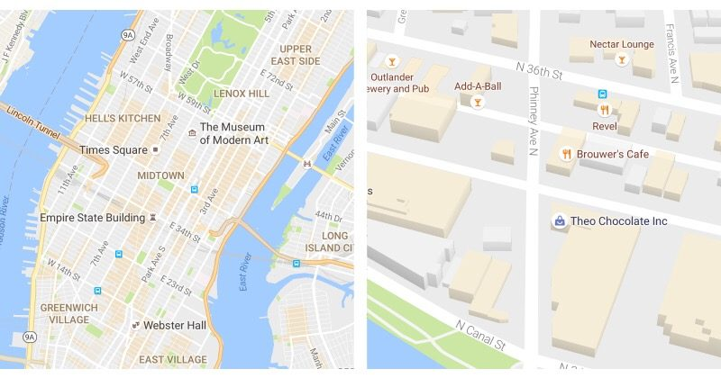 Google Maps gets color coded visuals, areas of interest