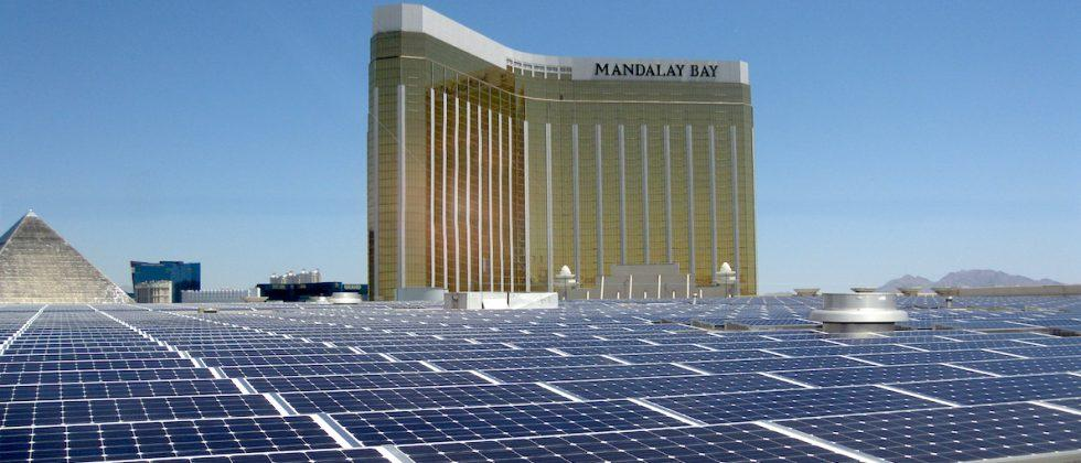 Vegas' Mandalay Bay now hosts largest rooftop solar array in US