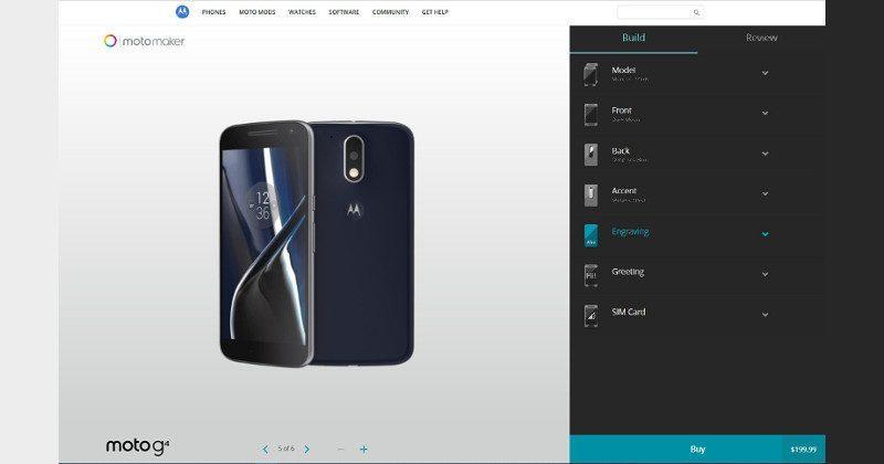 Moto G4, G4 Plus now available via Moto Maker